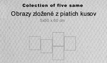5 dielne obrazy - colection of five same