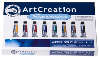 ArtCreation Expression water colours 8 x 12 ml