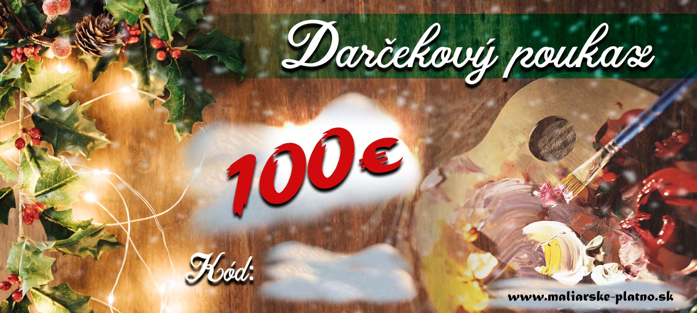 02cf6789a Vianočný darčekový poukaz 1 - 100 €