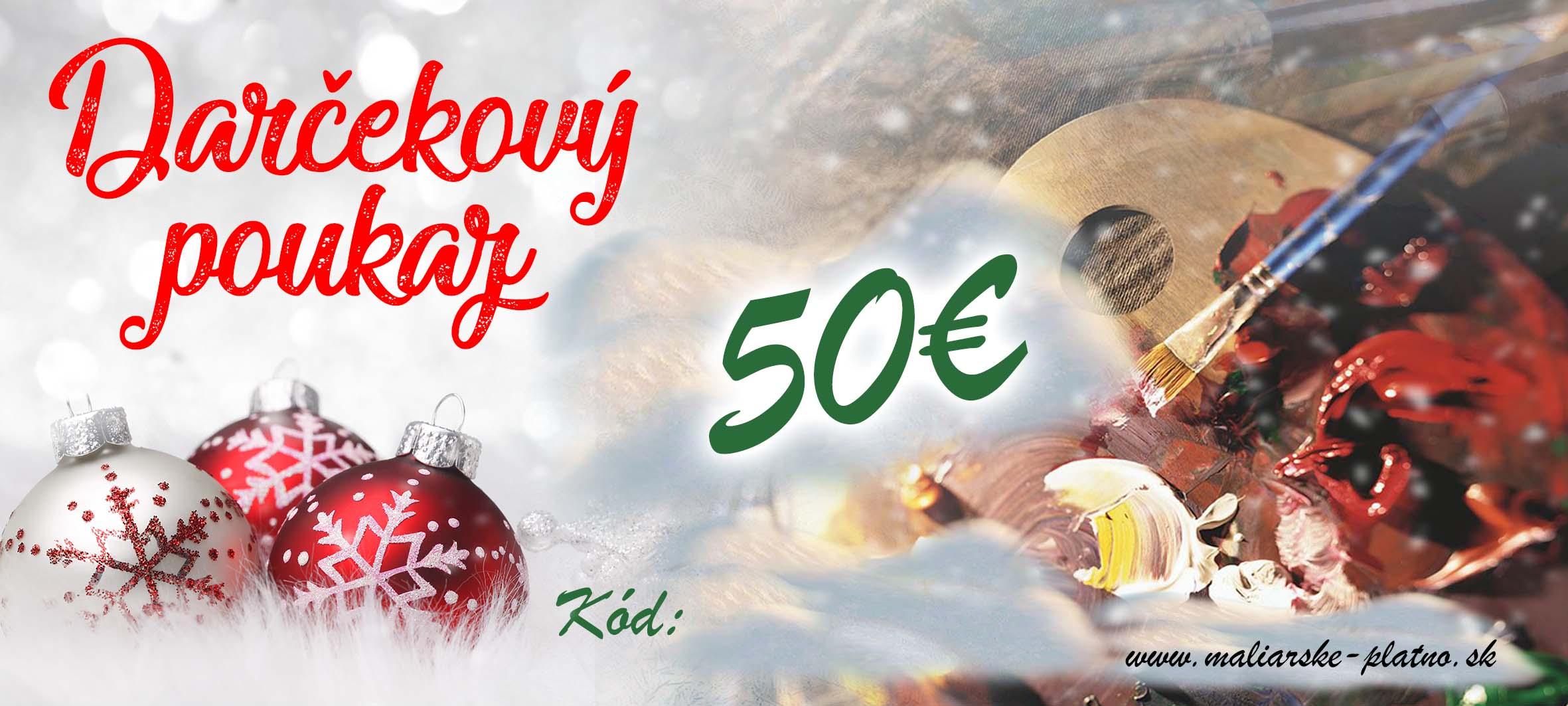 122f31b1e Vianočný darčekový poukaz 2 - 50 €