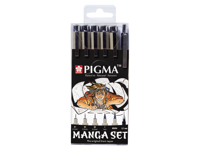 Manga Pigma® set - set 6 ks