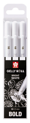 Sakura Gelly Roll Bright White Bold 10 - sada 3 ks