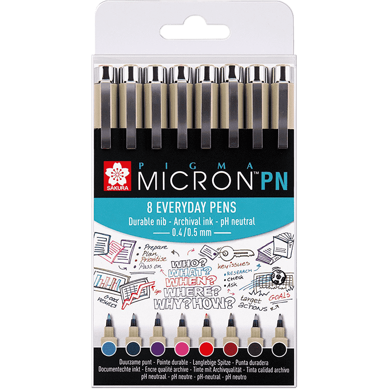 Sakura Pigma® Micron PN Office set - 8ks