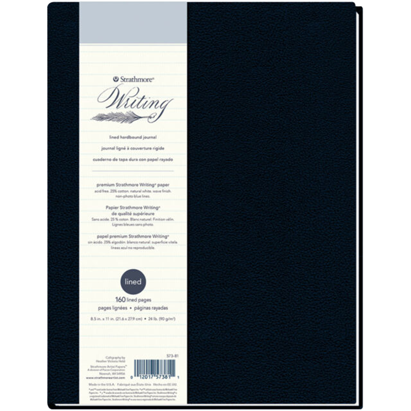 Strathmore Writing lined hardbound journal 21,6x27,9cm 90g 160ks