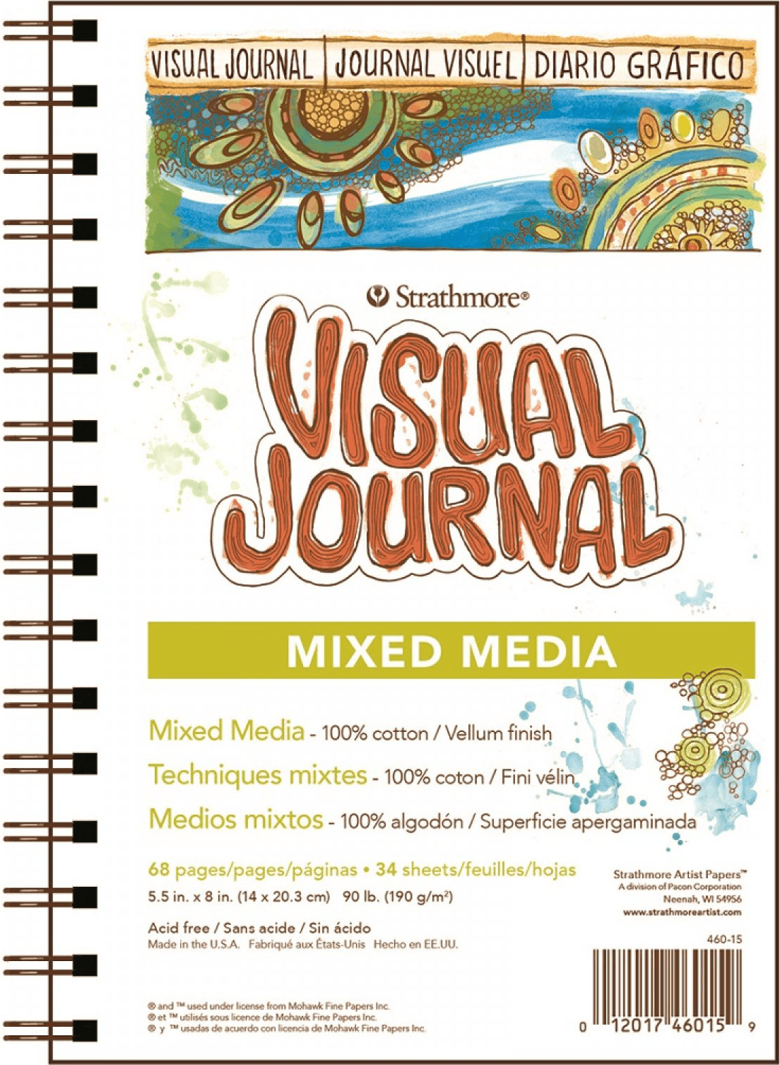 Strathmore Visual Journal Mixed Media 500 series 14x20,3cm 190g 68ks